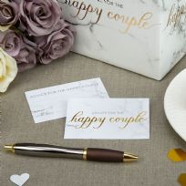 Scripted Marble Wedding Wishes Cards (25)